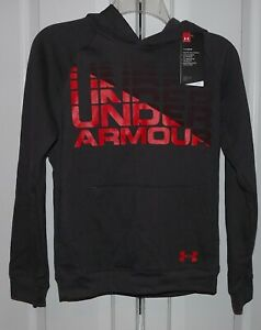 Under Armour Coldgear Boys Youth Logo Pullover Hoodie 1342607-019 NWT Large
