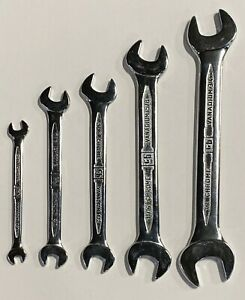 GB Open End Wrench Set 5 Piece 1 4quot; To 7 8quot; Narrow Profile $19.99