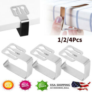 NEW Stainless Steel Tablecloth Cover Clips Clamps Holder Party Picnic Supplies
