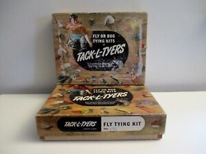 VTG FLY  BUG TYING KIT TACK-L-TYERS FISHING LURES FEATHERS ASSORTED LOT 2 BOXES
