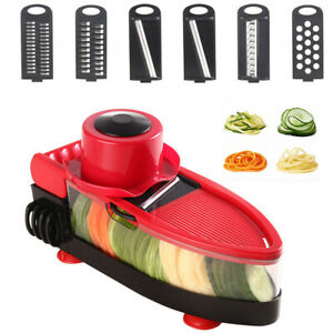 Slicer Cutter Chopper Grater 6In1 Vegetable Slicer Spiral Slicer Handheld Dicer