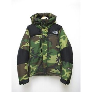 THE NORTH FACE Valtrolite Down Jacket ND91515 M Hooded Parka Green Camouflage