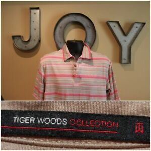 Mens TIGER WOODS COLLECTION NIKE FIT-DRY Golf Polo : Size Medium M