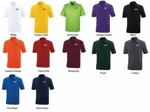 12 Custom Logo Embroidered Dryfit Polo Shirts - Free Shipping!! Moisture Wicking
