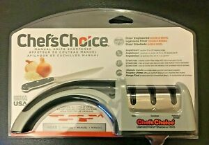 Chef's Choice Manual Knife Sharpener 4643 Daimond Hone 3 Stage / Slot Pronto Pro