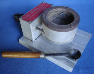 LEE BULLET CASTER ELECTRIC LEAD MELTING MELTER & LADLE ~BALL~BULLET MOLD ~SINKER