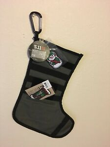 5.11 Tactical Holiday Stocking Bundle Carabiner Stocking 2 Patches NWT