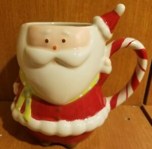 Target Home HOLIDAY 08 BE MERRY Figural Santa Mug, Ceramic, 5 1/2
