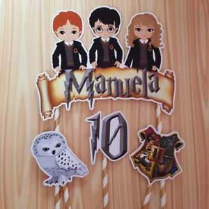 Personalized Harry Potter Cake Topper Party Favor Birthday Decoration