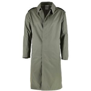 Genuine French Military Rain Coat Army Trench coat Olive Waterproof Full Length $32.28