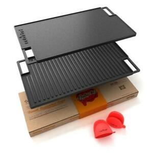 NUTRICHEF NCCIRG59 Kitchen Flat Grill Plate Pan With Plant Oil Coating