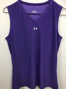 Under Armour Women's Running Tennis Athletic V Neck Compression Tank Top Shirt