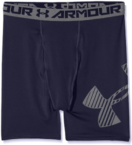 Under Armour Youth Boys Navy Armour Mid Shorts 5631 Size XL $20.24