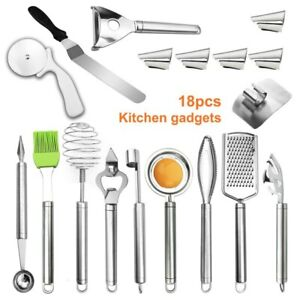 18Pcs Cookware Set Stainless Steel Multi-Function Eggbeater Western Cooking Tool