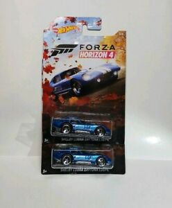 2019 Hot Wheels Forza Horizon 4 Blue Shelby Cobra Daytona x2  Walmart Exclusive