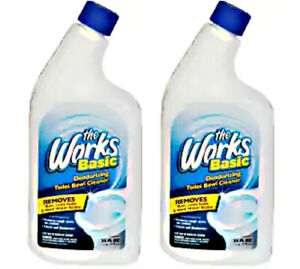The Works Deodorizing Toilet Bowl Cleaner. Two 24-ounce bottles.