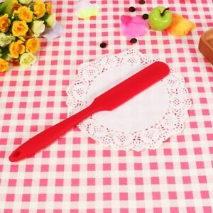 Red Silicone Cake Cream Scraper Spatula Mixing Butter Kitchen Baking Tools DIY