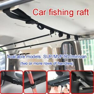 2PCS Car Fishing Rod Rack Carrier Reel Combos Pole Holders Horizontal Mount Belt