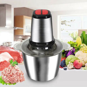 Meat Grinder Food Chopper Processor for Net Vegetables 2L Stainless Steel 300W