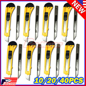 Lot Knife Utility Box Cutter Retractable Snap Off Lock Razor Sharp Blade Tool