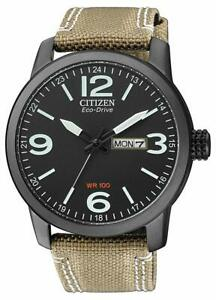 Citizen Eco Drive Men's Global Collection Black Dial Band 42mm Watch BM8476 31E