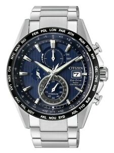 Citizen Eco Drive Men's Global Collection Blue Dial 43mm Watch AT8154 58L