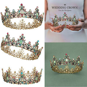 Rhinestone Wedding Tiaras Crowns For Women Luxury Queen Crown Bridal Hair Combs $21.84