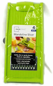 MAINSTAYS MANDOLINE SLICER Safely  Smooth Slice Grate Cheese Fruits Vegetables