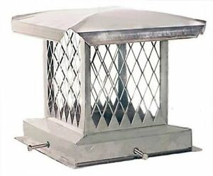 Stainless Steel Chimney Cap,New,8x8 To 17x17 Made in USA