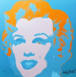 ANDY WARHOL MARILYN MONROE 1986 HAND NUMBERED 22162400 LITHOGRAPH signed