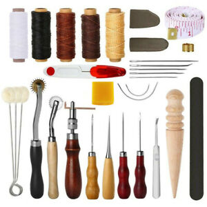 31 Pcs Leather Sewing Tools Diy Leather Craft Tools Hand Stitching Tool Set $21.98