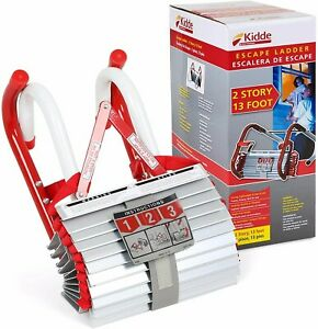 Kidde 468093 KL-2S Two-Story Fire Escape Ladder with Anti-Slip Rungs, 13-Foot