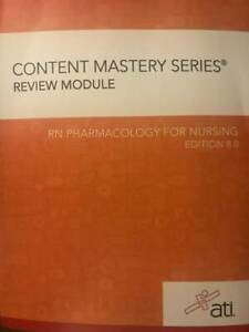 RN Pharmacology for Nursing 8.0 Paperback By ATI VERY GOOD