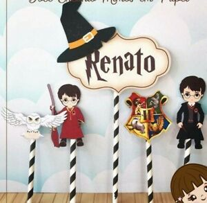 Personalized Harry Potter Cake Topper Party Favor Birthday