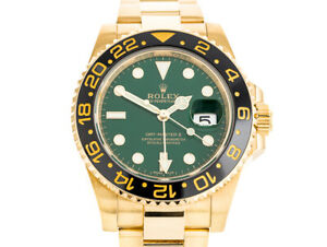 ROLEX GMT-MASTER II REFERENCE 116718LN  YELLOW GOLD MEN MINT WATCH 2018 PAPERS