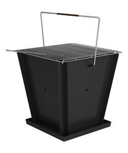 Groovebox Outdoor Living Portable Charcoal Barbecue Grill Made From Solid Steel