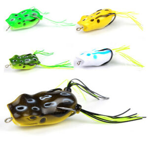 MEREDITH Popper Frog 11.7g 5.3cm 5pcs Frog Lures Soft Baits For Snakehead Bas…