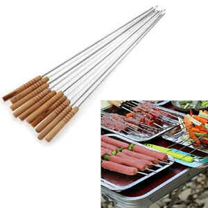 10/12 Pcs Stainless Steel Barbecue BBQ Skewers Needle Kebab Kabob Stick Tool Sur