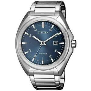 Citizen Eco Drive Men's Blue Dial Calendar Bracelet 41mm Watch AW1570 52L