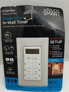 New My Touch Smart Simple Set In-Wall Digital Timer 26893