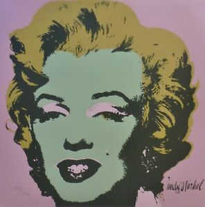 ANDY WARHOL MARILYN MONROE 1986 HAND NUMBERED 17302400 LITHOGRAPH signed
