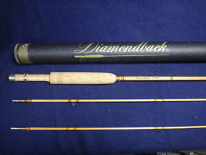 Diamond Back Bamboo Rod 7ft # 4 2 tips 2 peices Good Condition Free Shipping