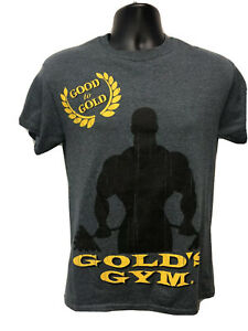 Golds Gym Good To Gold Grey Shirt Small $24.99