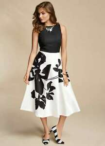 Kaleidoscope Mono Print Prom Fit N Flare Dress Size 20. New with tags. Price £99