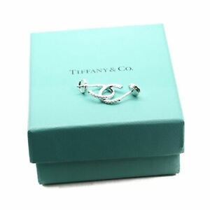 Tiffany & Co Metro Diamond Hoop Earrings 18K Gold $2950 MSRP with boxreceipt
