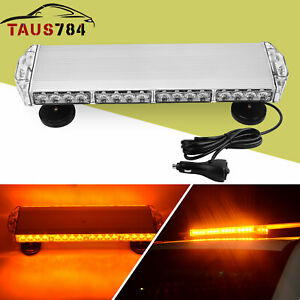 Amber Emergency Mini LED Light bar Magnetic Roof Mount Strobe Light Bar