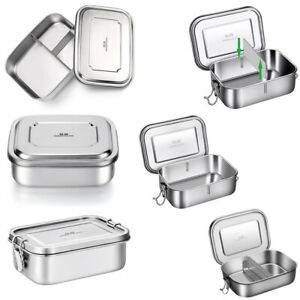 Portable Stainless Steel Lunchbox Bento Box Food Container Leak-Proof Food Case