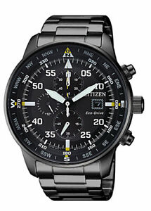 Citizen Eco Drive Men's CA0695 50E Chronograph Black Dial Band 44mm Watch
