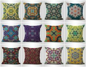 set of 10 mandala yoga meditation pillow covers decorative