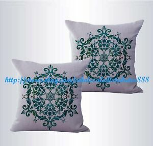 set of 2 boho mandala yoga meditation cushion cover seat cushion cover
